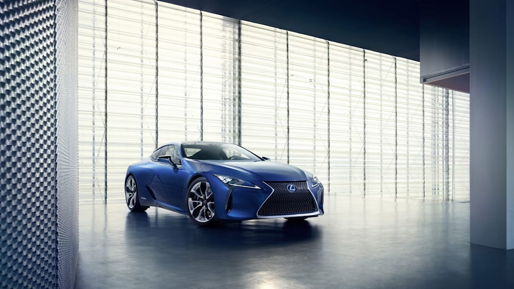 2018 Lexus LC 500h indoor front angle