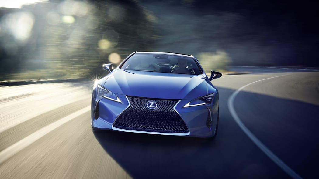 2018 Lexus LC 500h front driving