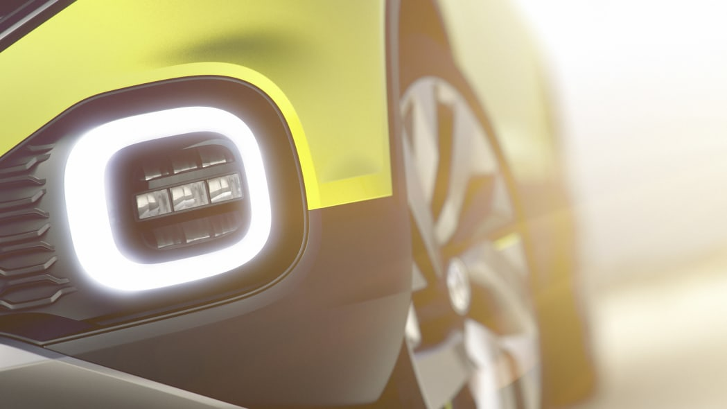 Volkswagen small SUV Concept teaser driving lamp