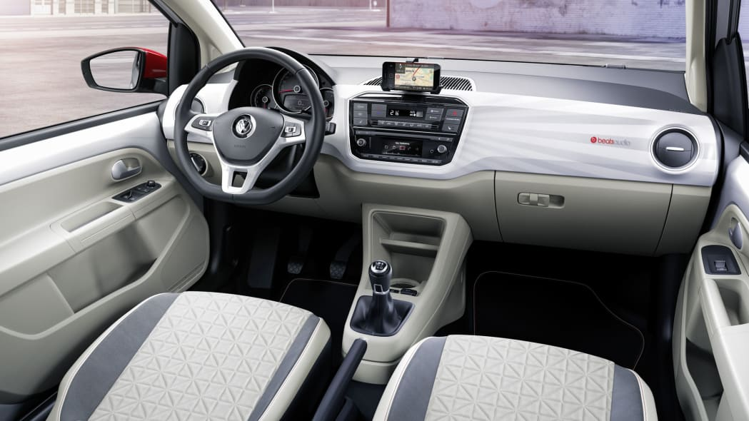 vw up beats interior side