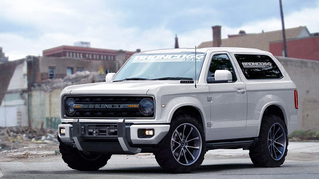 2020 ford bronco render front