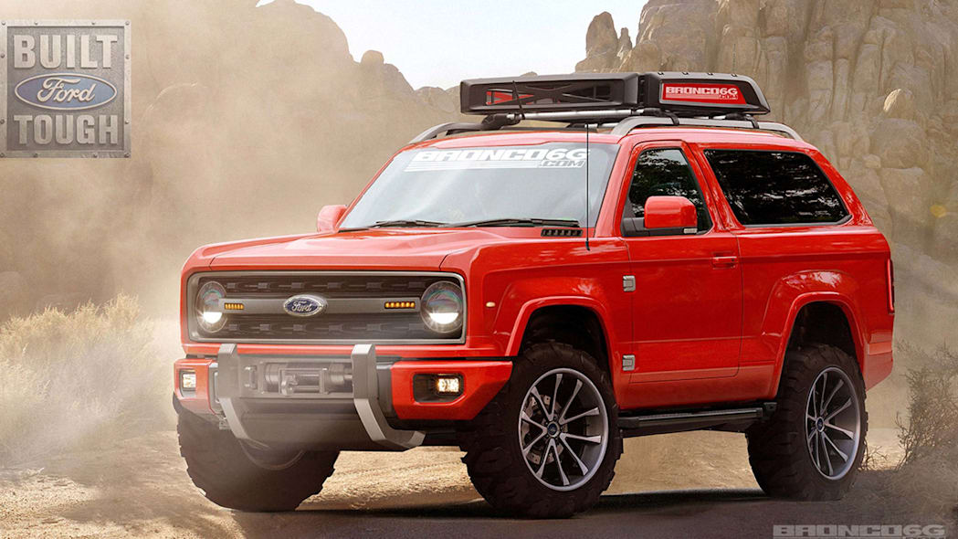 2020 ford bronco red