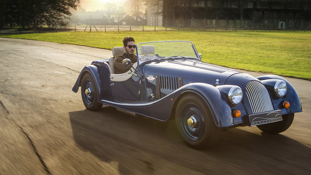 Morgan 4/4 80th Special Edition moving front 3/4