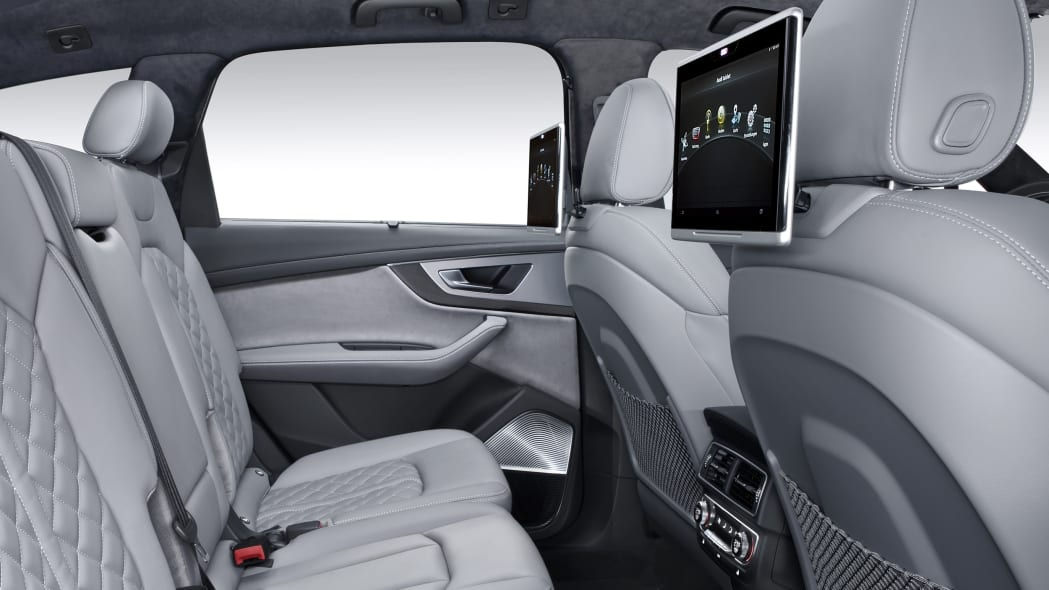Audi SQ7 TDI interior rear seats