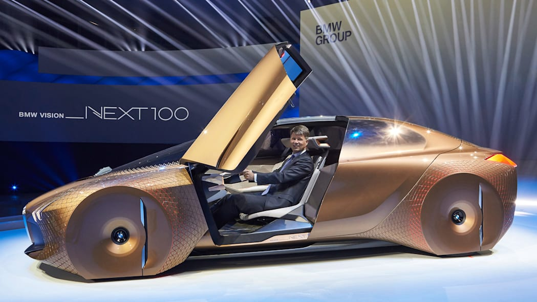 BMW Vision Next 100 Concept profile doors open