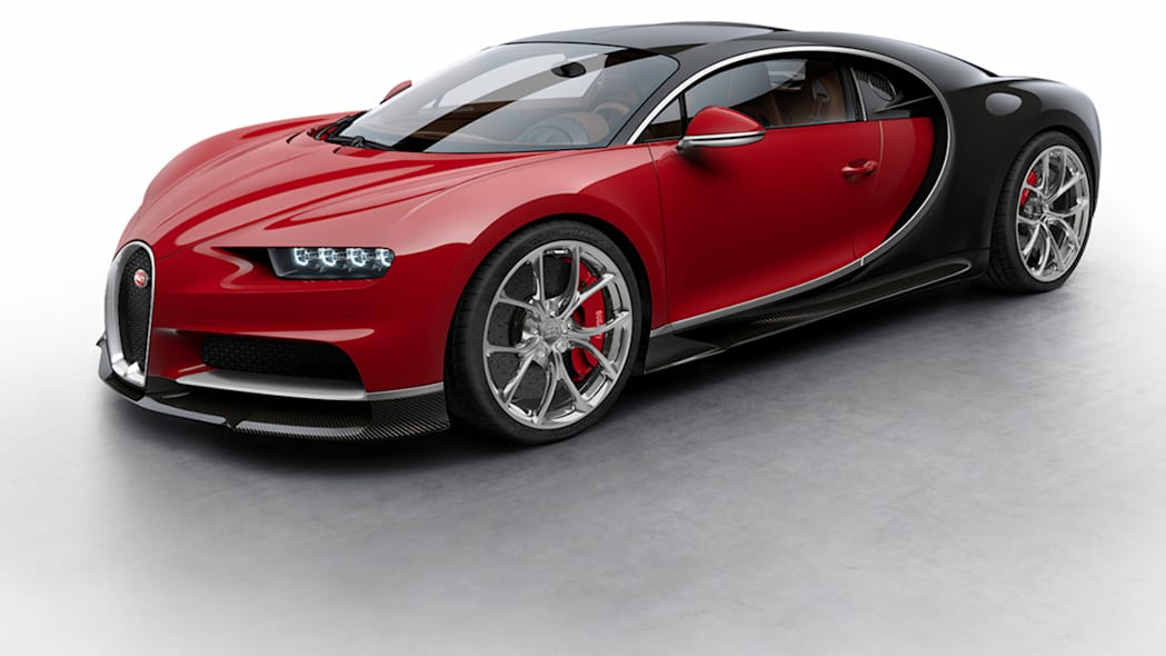 chiron bugatti red black alloy wheels front