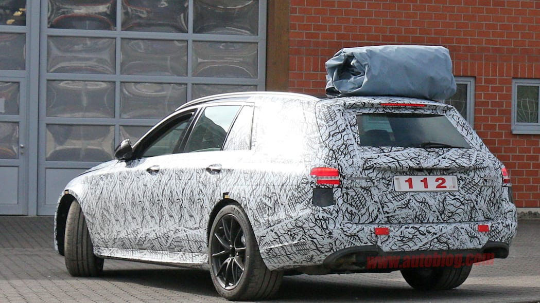 2017 Mercedes-AMG E63 Wagon spied rear 3/4