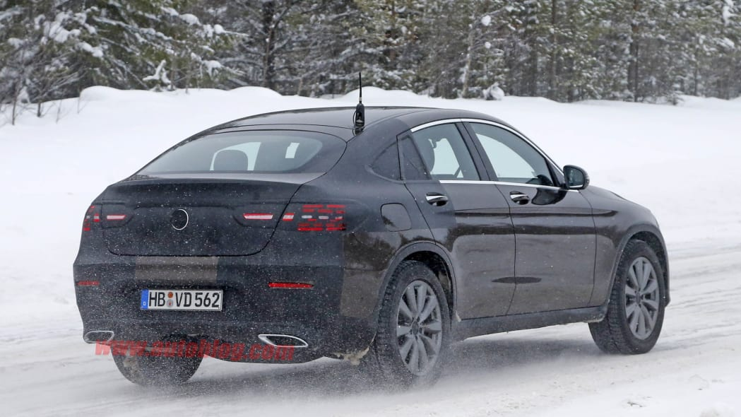Mercedes GLC Coupe brown prototype rear 3/4