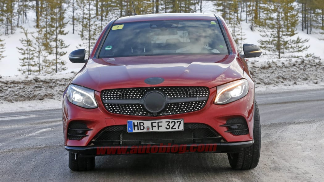 2017 Mercedes GLC Coupe red prototype front