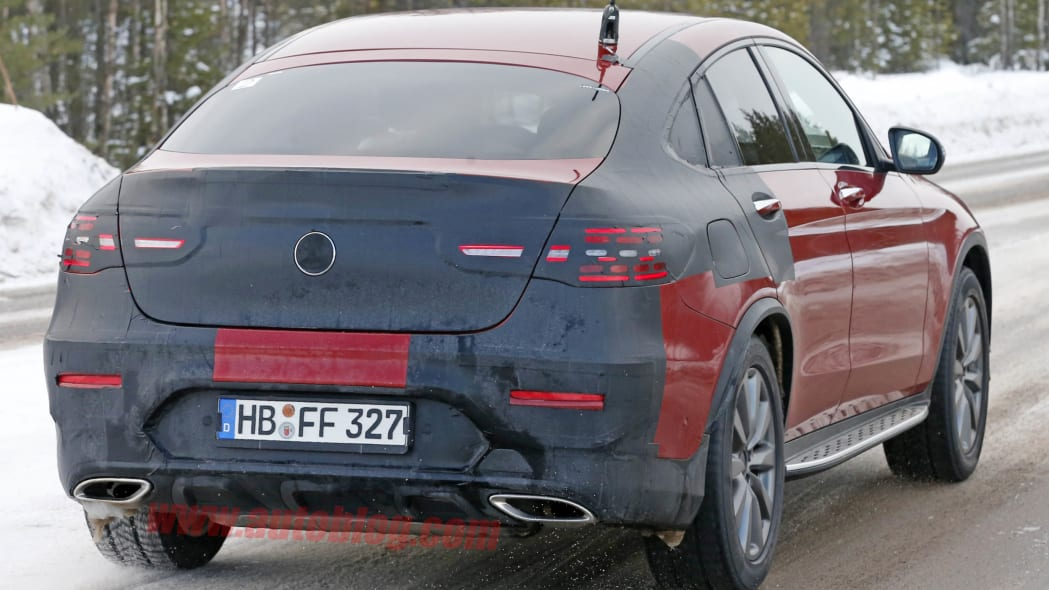 2017 Mercedes GLC Coupe red prototype rear 3/4