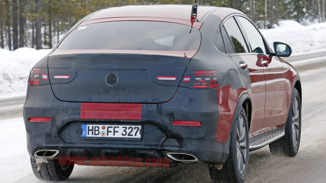 2017 Mercedes GLC-Benz Coupe red prototype rear 3/4
