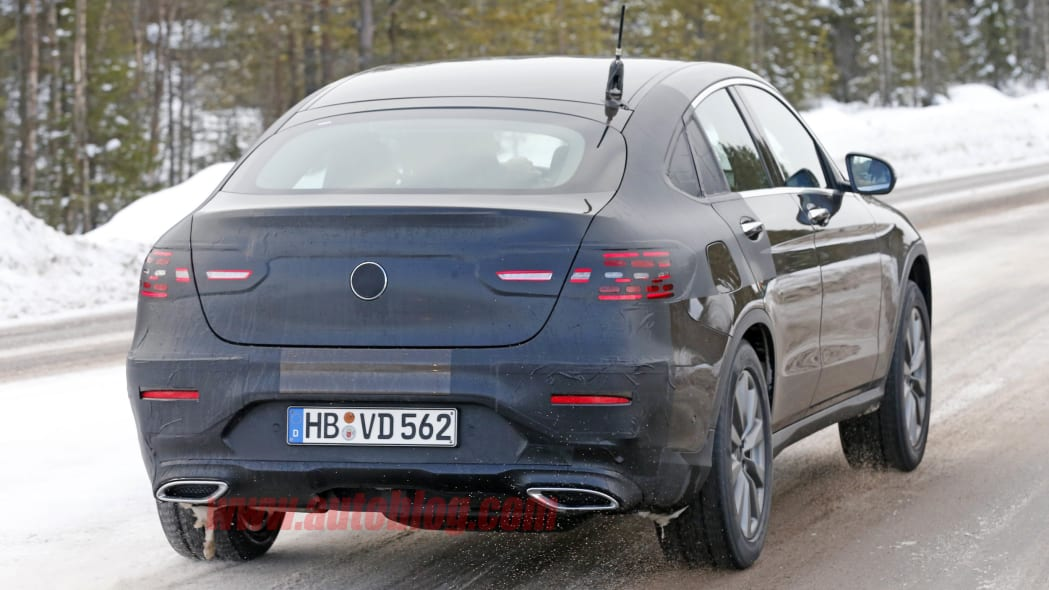 Mercedes-Benz GLC Coupe brown prototype rear