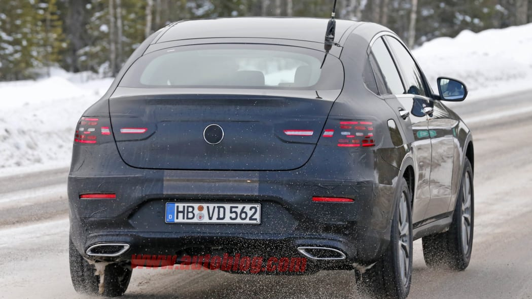 Mercedes GLC Coupe brown prototype rear