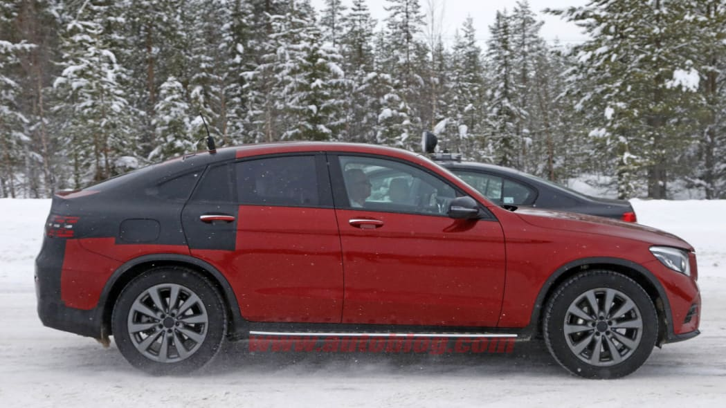 Mercedes-Benz GLC Coupe red prototype profile