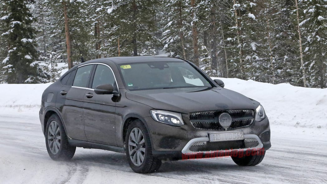 2017 Mercedes GLC Coupe brown prototype front 3/4