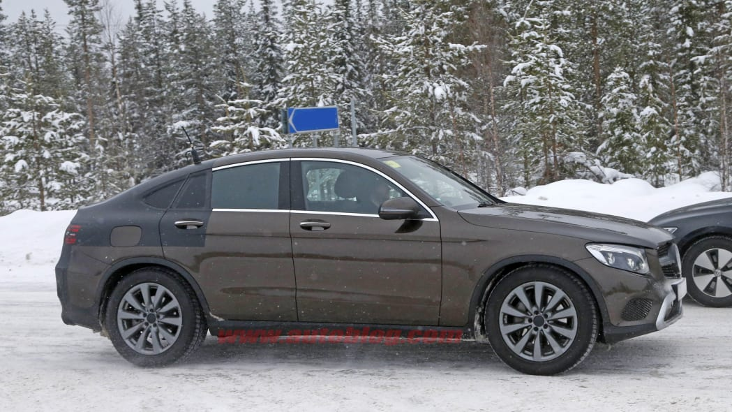 2017 Mercedes-Benz GLC Coupe brown prototype front profile