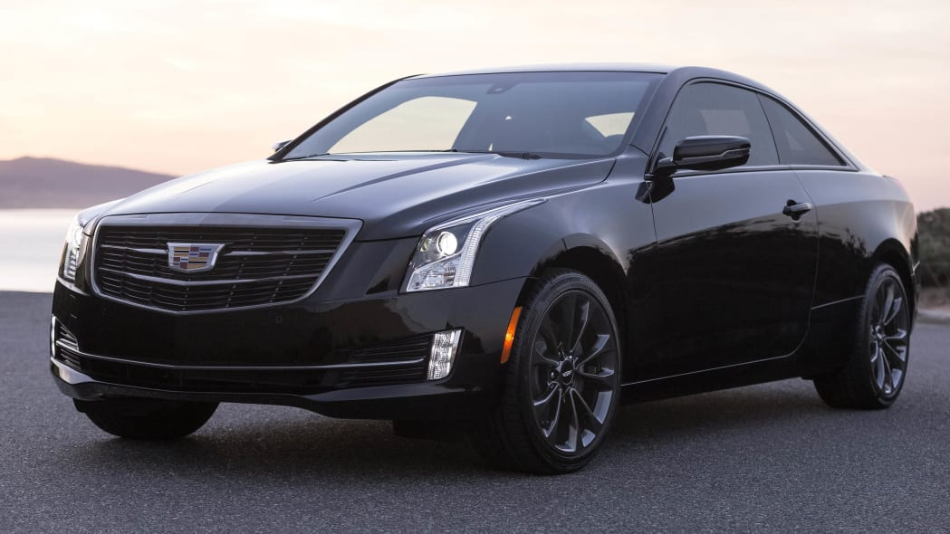 Cadillac ATS coupe with Black Chrome Package front 3/4