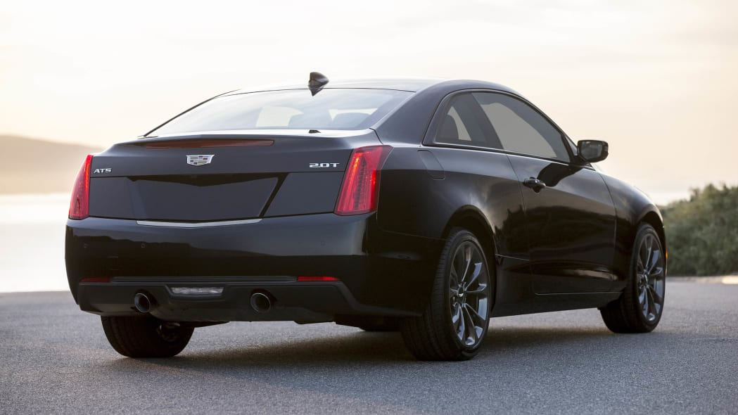 Cadillac ATS coupe with Black Chrome Package rear 3/4