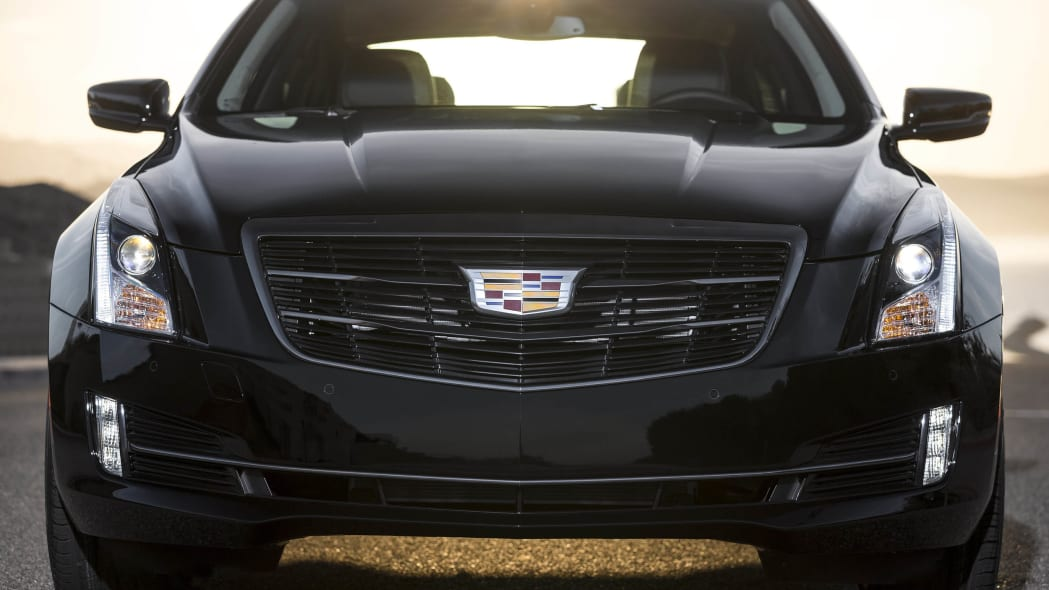 Cadillac ATS coupe with Black Chrome Package front