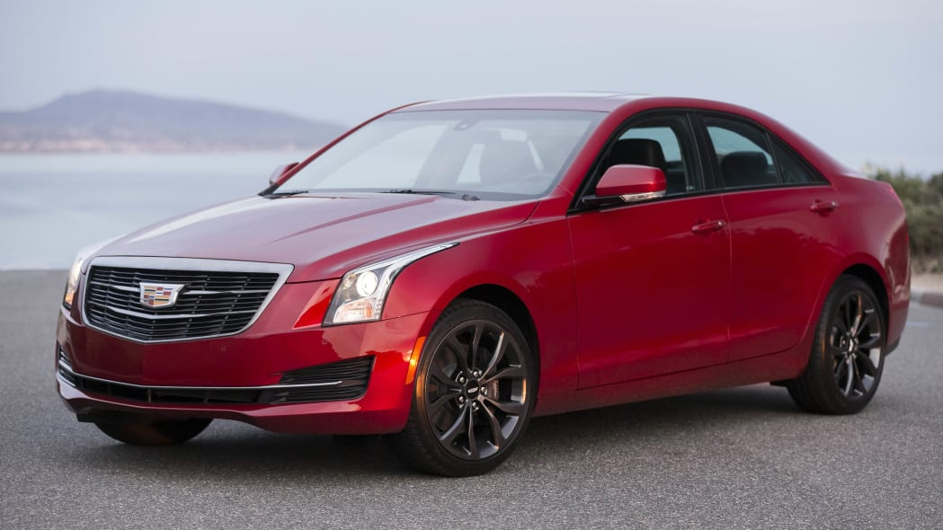 Cadillac ATS sedan with Black Chrome Package front 3/4