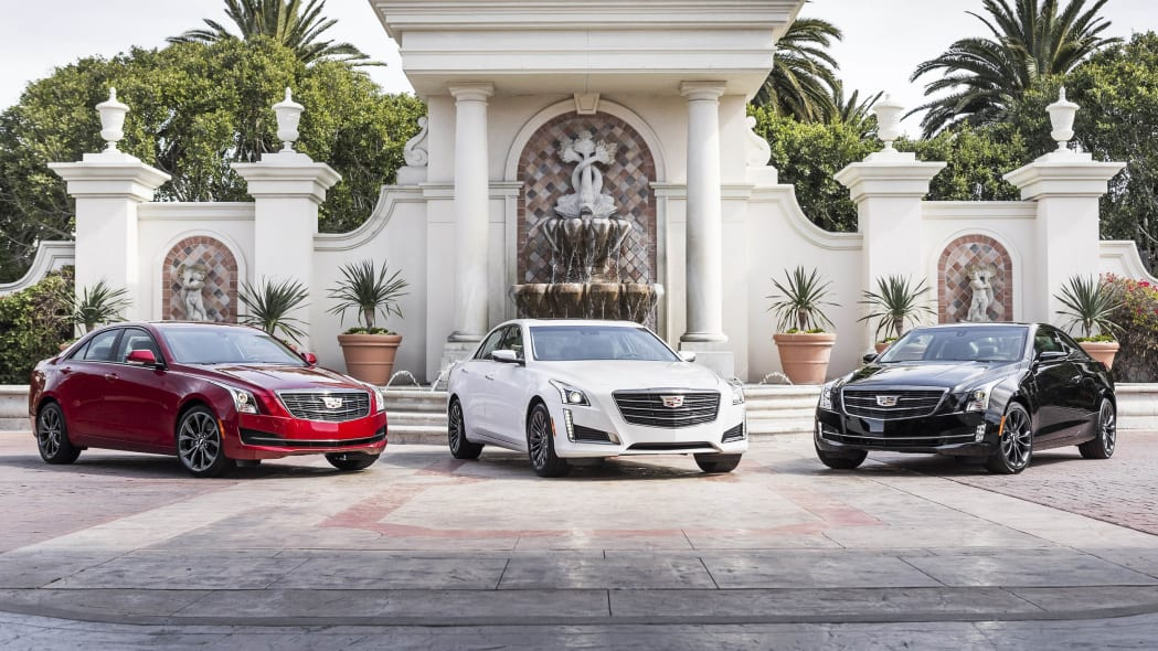 Cadillac ATS sedan, CTS sedan, and ATS coupe with Black Chrome Package