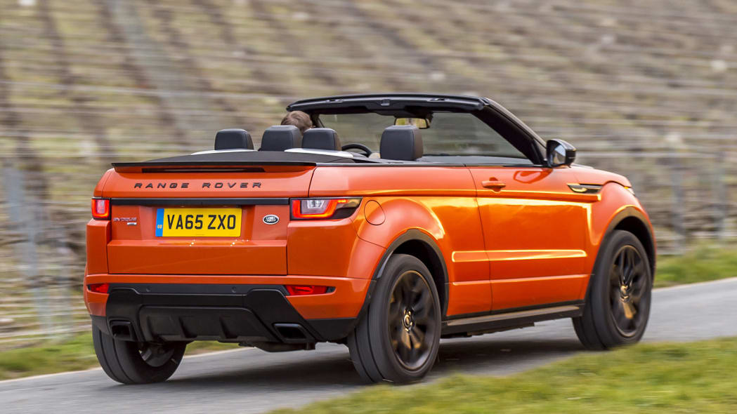2017 Land Rover Range Rover Evoque Convertible driving