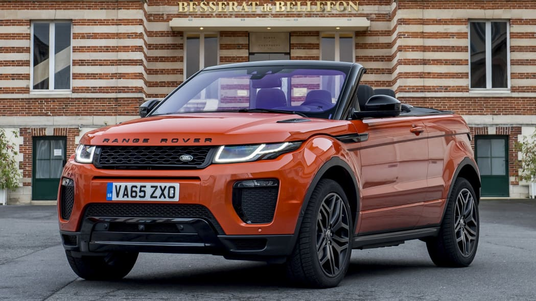 2017 Land Rover Range Rover Evoque Convertible front 3/4 view