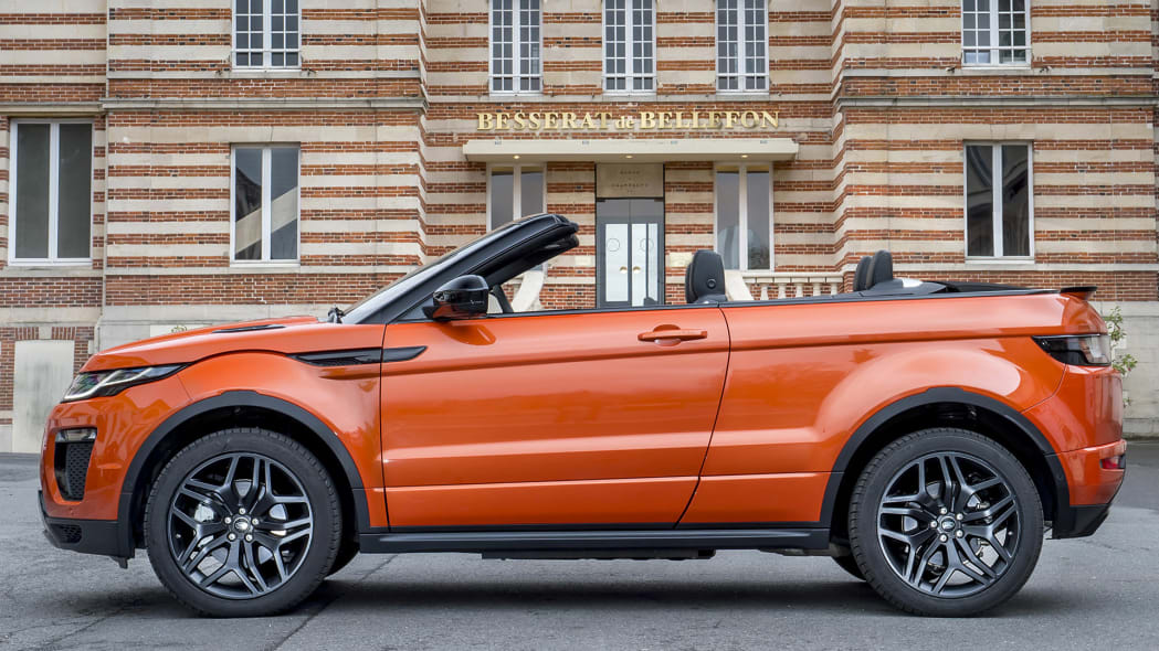 2017 Land Rover Range Rover Evoque Convertible side view