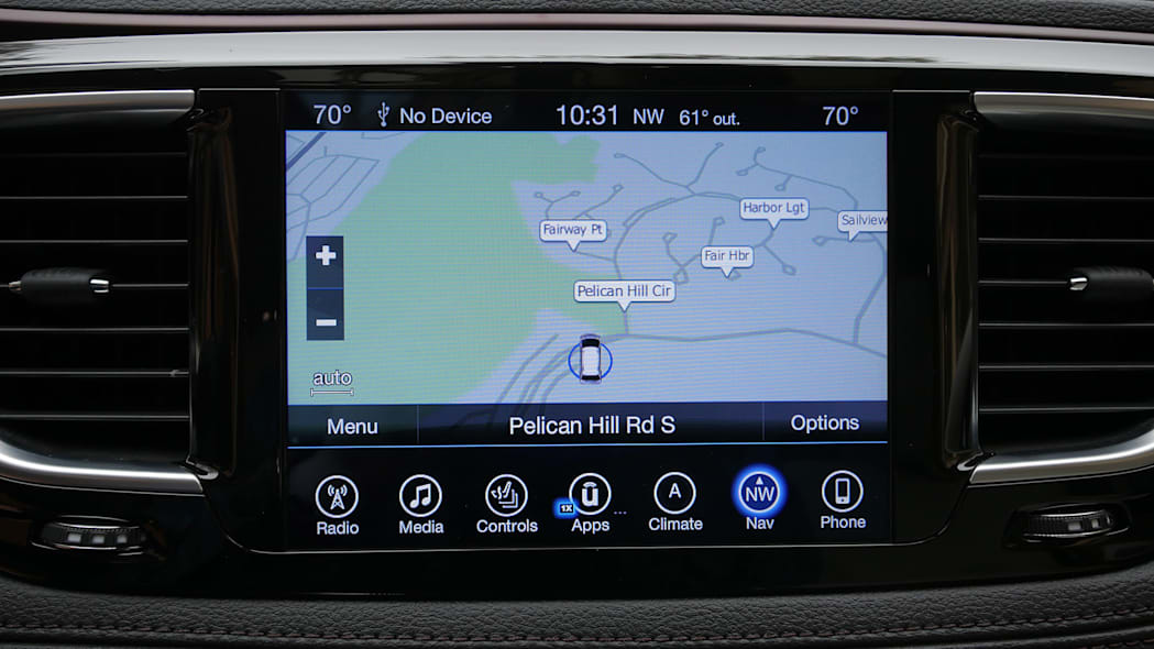2017 Chrysler Pacifica navigation system