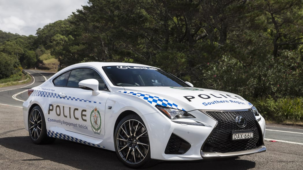 Lexus RC F NSW Police Cruiser front 3/4