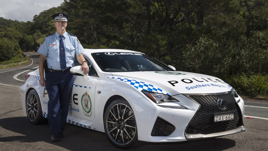 Lexus RC F NSW Police front 3/4