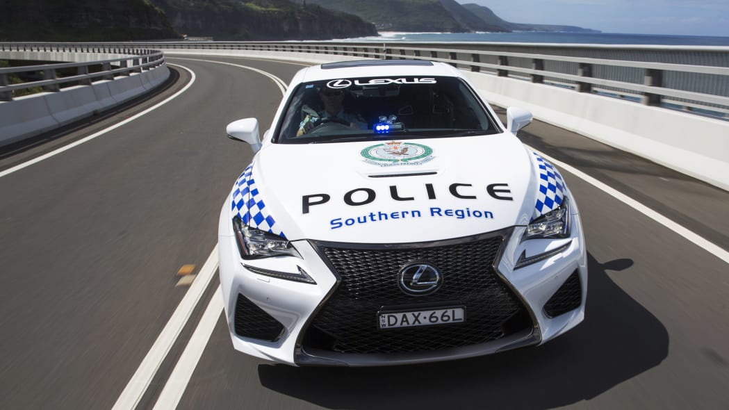 Lexus RC F NSW Police Cruiser front