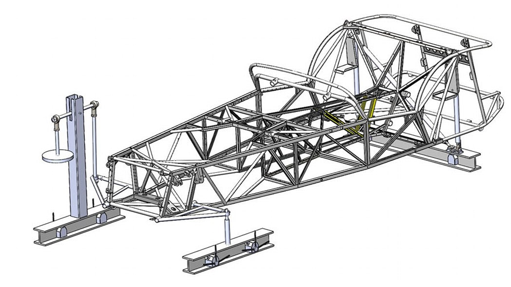 caterham seven butted tube prototype rendering