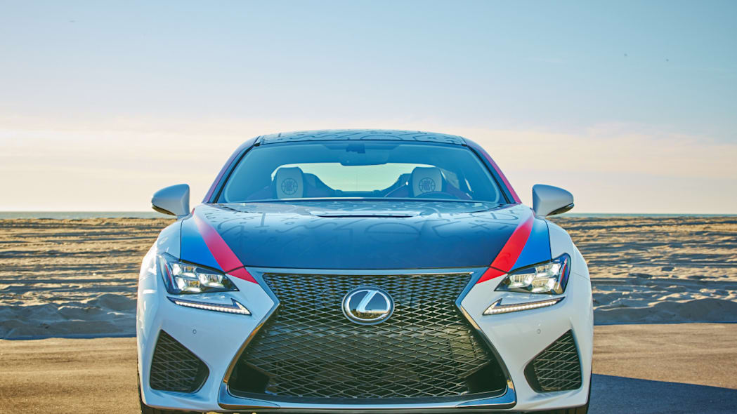 Lexus RC F Clippers Edition front