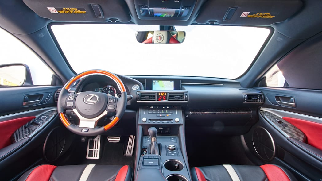 Lexus RC F Clippers Edition interior dashboard