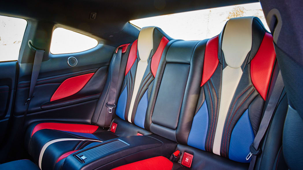 Lexus RC F Clippers Edition rear seats interior