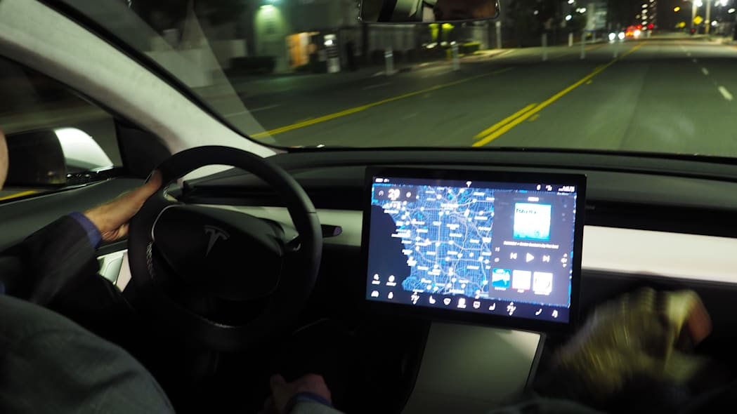 Tesla Model 3 interior and touchscreen