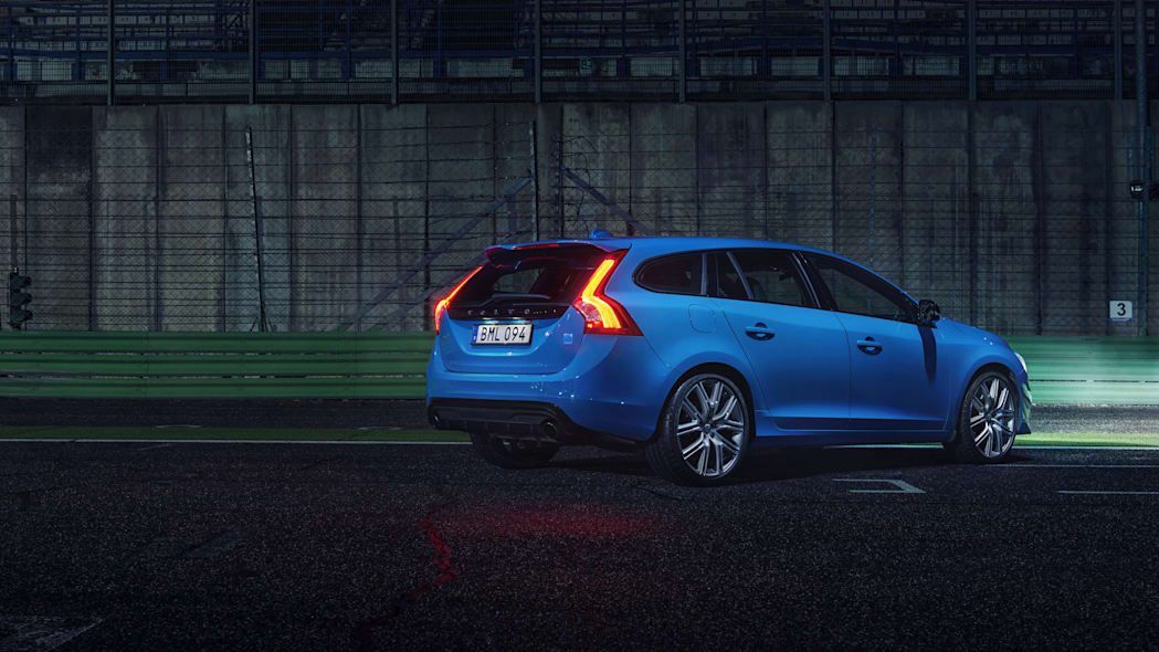 2017 volvo v60 polestar rear three quarters