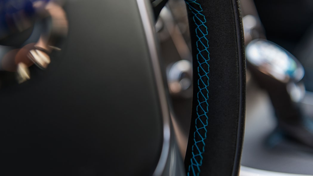 2017 volvo v60 and s60 polestar steering wheel detail