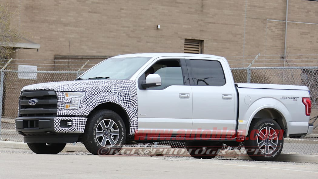 2018 ford f-150 spy shots side camouflage