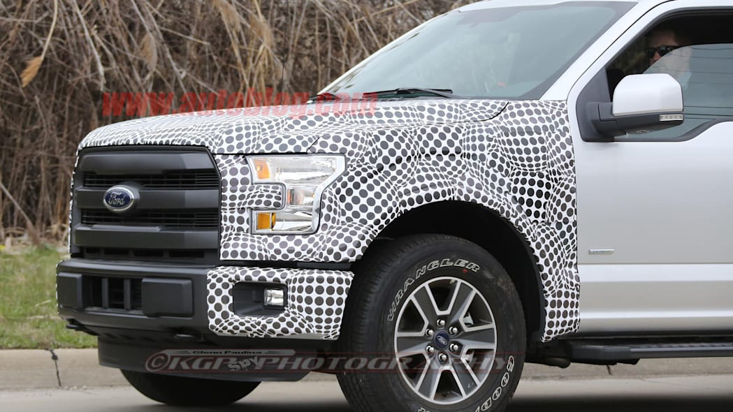 2018 ford f-150 spy shots front detail