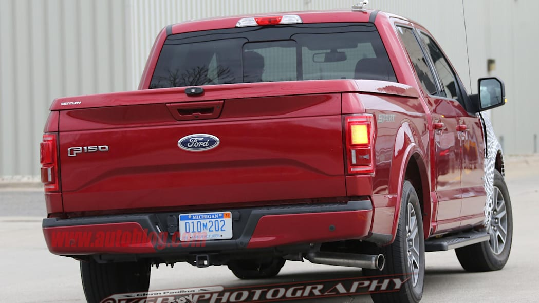 red 2018 ford f-150 spy shots