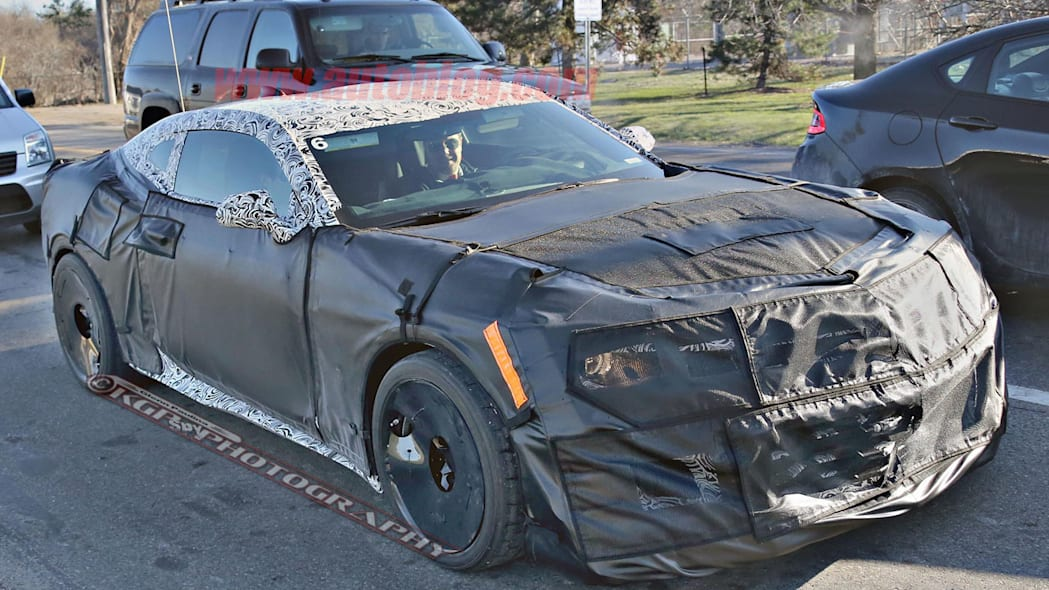 chevy camaro z28 spy shot three quarters