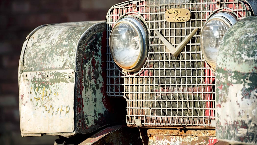 Unrestored Land Rover close-up
