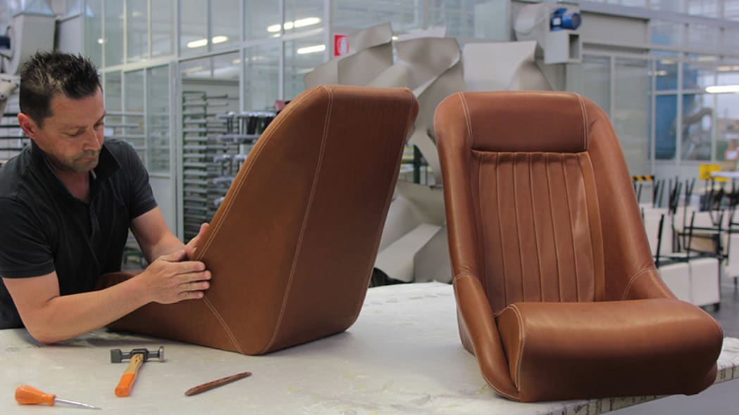 Effeffe Berlinetta leather seats being made