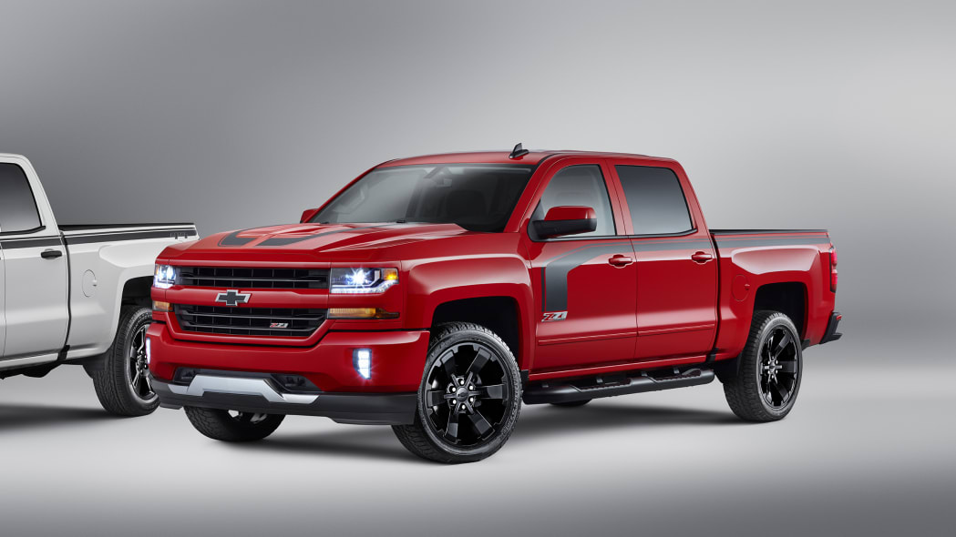 2016 chevy silverado rally edition red three quarters