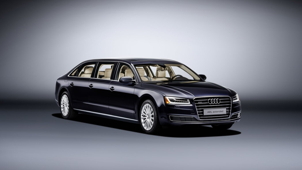audi a8l extended three quarters low