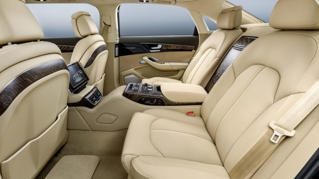 audi a8l extended third row profile