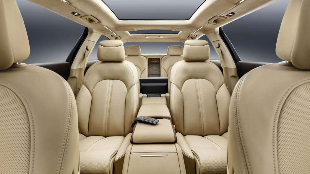 audi a8l extended interior rear