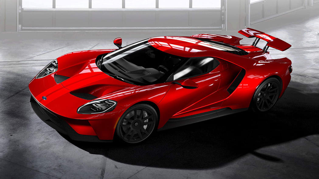 2017 Ford GT overhead front view